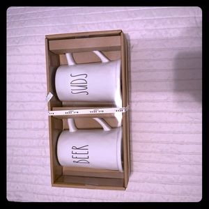 NWT Rae Dunn BEER and SUDS Mugs